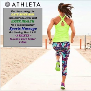 Sports Massages with Esser Health at Athleta!